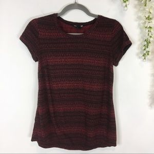 H&M MAMA short sleeve red & black maternity top